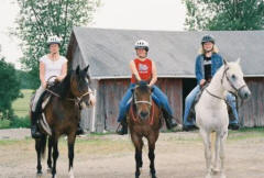 A fun afternoon for three young riders near Beaver Dam, Wisconsin.